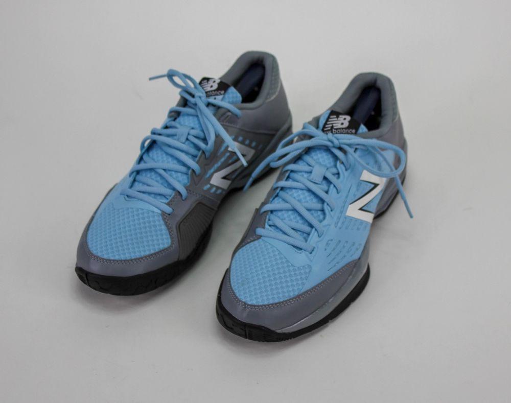 sports shoes 1370c 057b7 New Balance Men s MC896 Lightweight Tennis Training Shoe Gray Blue 9.5 2E   NewBalance  TennisShoes