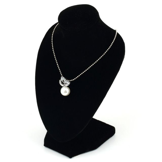 2,01€ - Black Mannequin Women Lady Girl Black Velvet Necklace Display Stand Show Pedestal Jewelry Chain Holder BustIndustry Science - YKS-Ezsources Centre