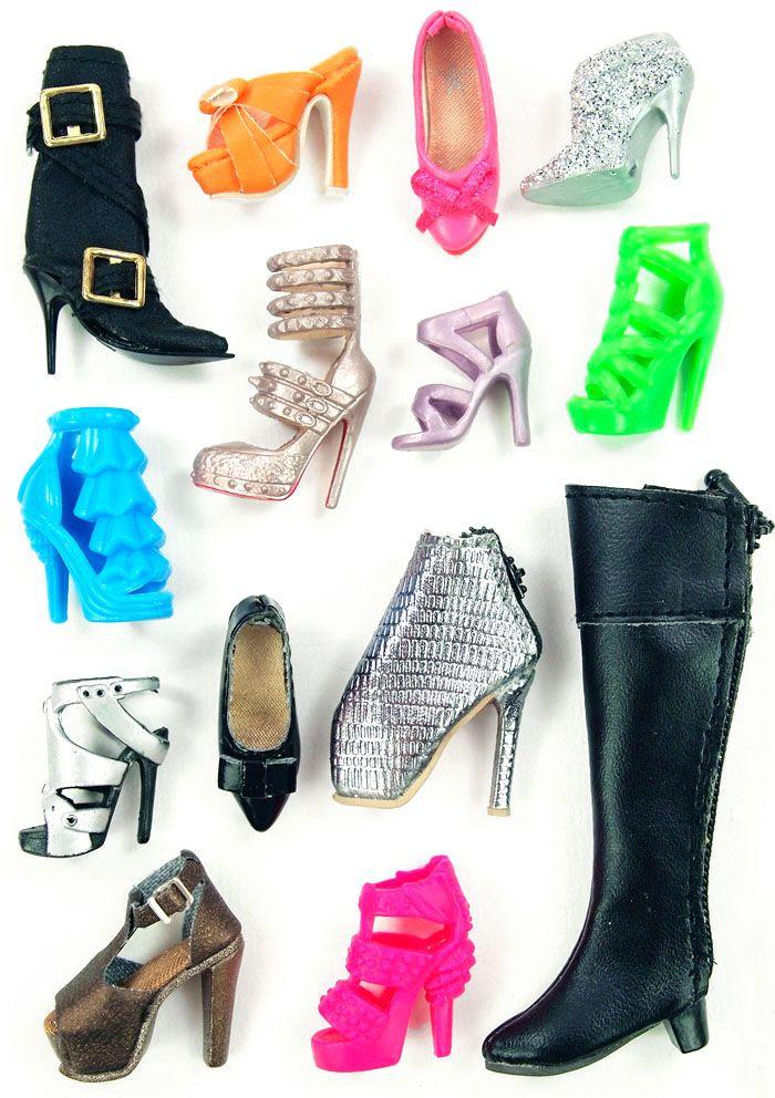 Chaussures Sapatos Shoes Ken Fashionistas Black Noires Doll Mattel Males Ii Autres