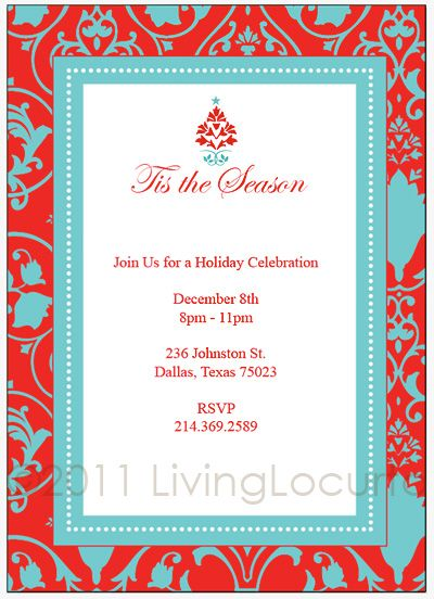 Free Christmas Party Invitation Template Corporate Christmas - dinner party invitation sample