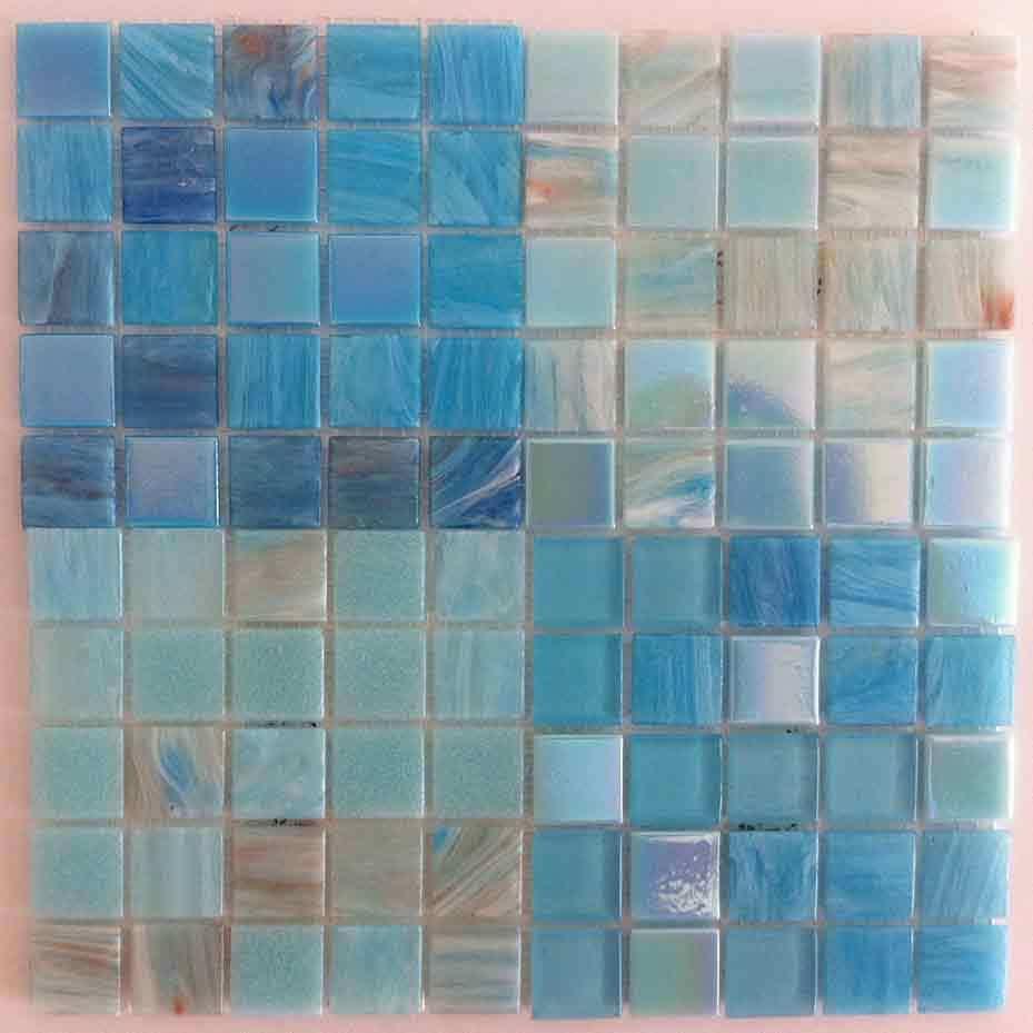 MosaicTiles.com.au - Light Blue Mix Mosaic Tiles - Bisazza Mix ...