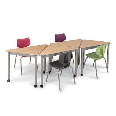 Triangle Shaped Classroom Desk Uxl Wing Desk Smith System