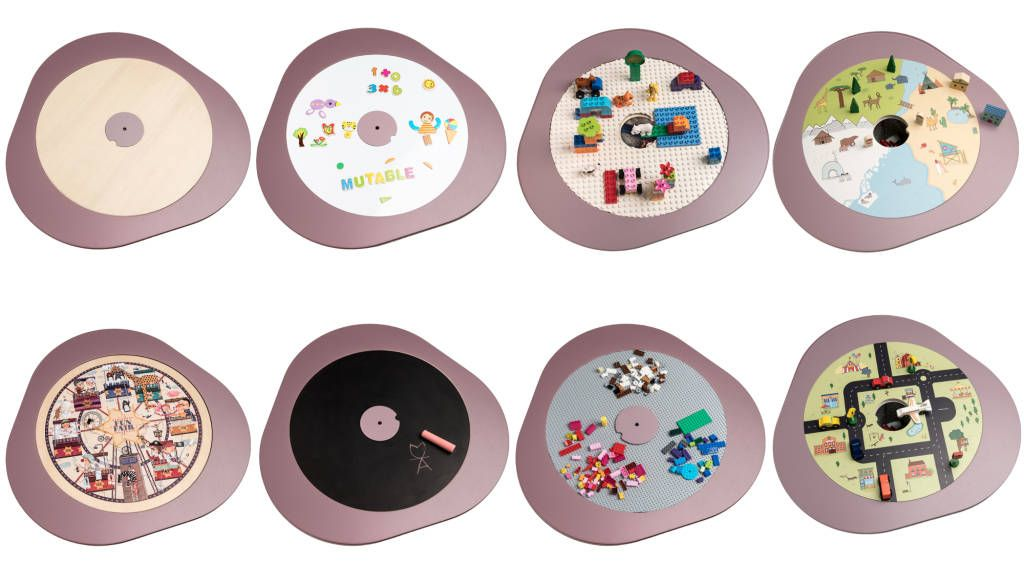 Tavolo Multifunzione ~ Great kids table with 8 changeable tops duplo lego chalk jigsaw