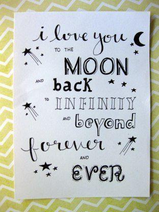 Ich liebe dich bis zum Mond und zurück in die Unendlichkeit und jenseits für immer und ewig. letteri   #immer #jenseits #letteri #liebe