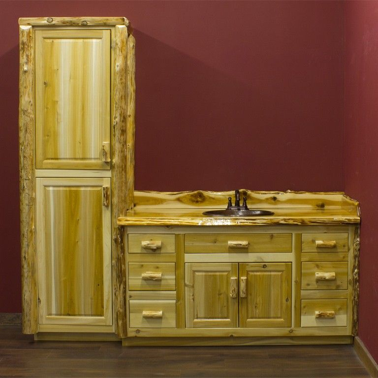 Might Do Log Furniture In Our Master Bathroom Why Not