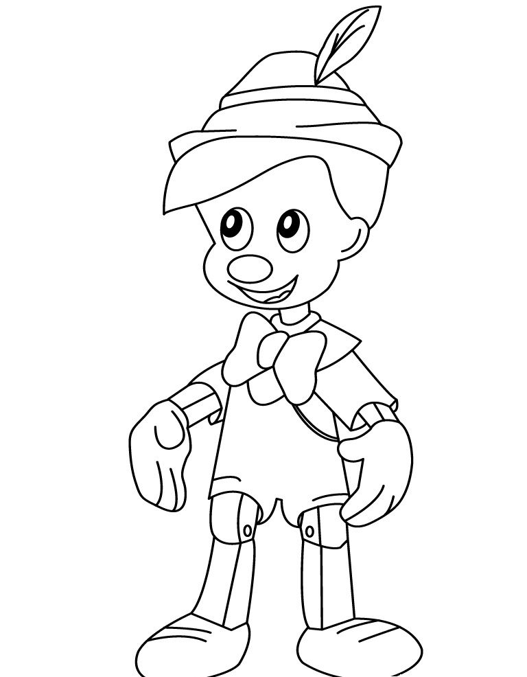 Free Printable Pinocchio Coloring Pages For Kids Penguin Coloring Pages Coloring Pages Online Coloring For Kids
