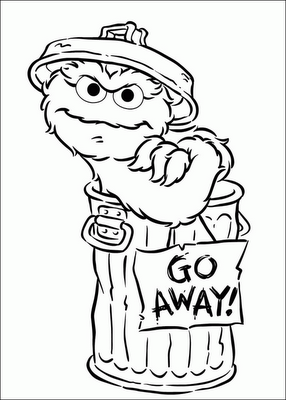 An Oscar Obsession The Grouch Coloring Pages