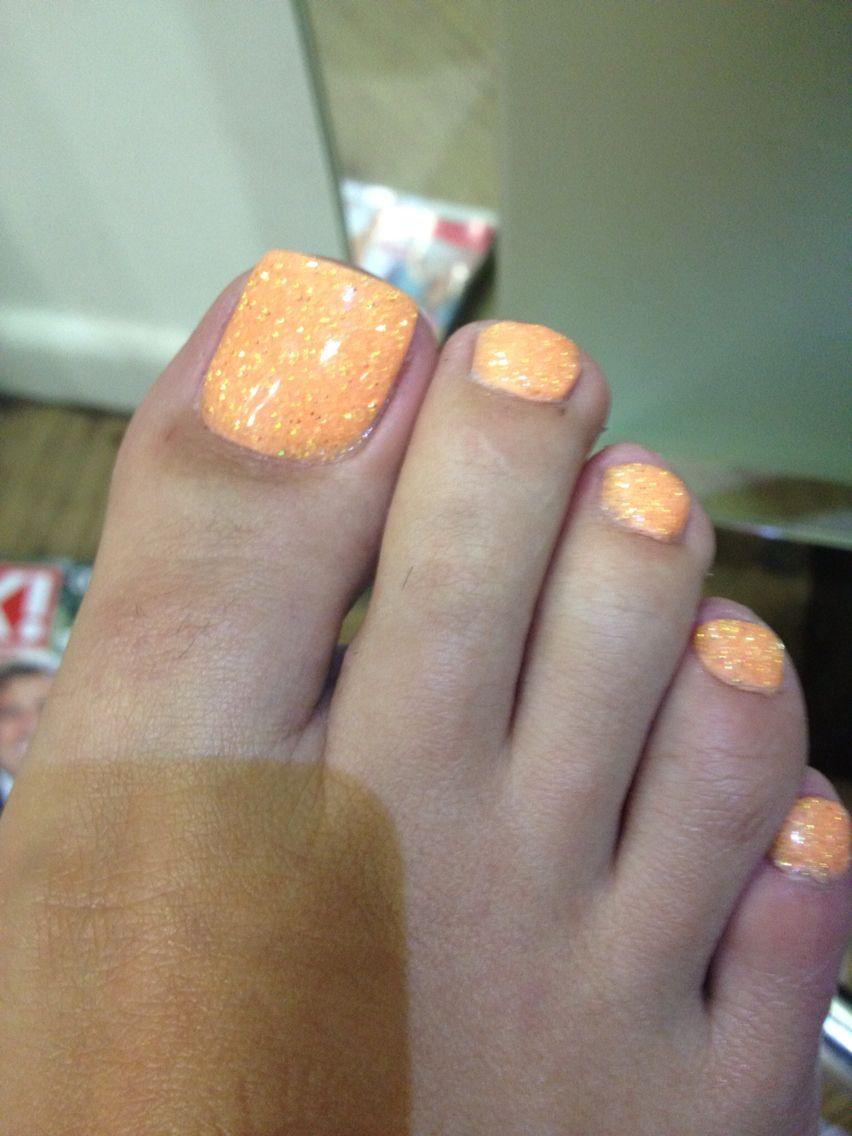 Neon Orange Nails Rockstar Toes Shellac White Shellac Nails Neon Orange Nails Shellac Nails