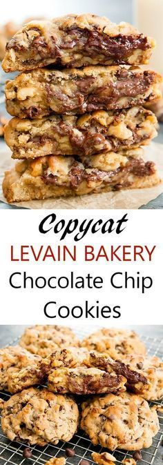 Levain Bakery Chocolate Chip Cookies Recipe Levain Bakery Food Recipes Chip Cookies