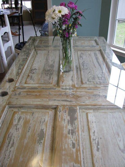 The Antique Door Table - Lest I Forget: The Door Table Home Stuff Pinterest Door