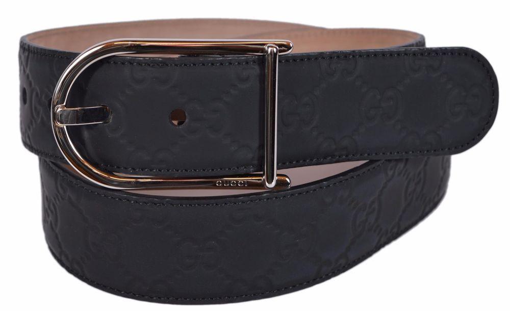 db8b4f3d0d8788 New Gucci Men s  275 Black Neoprene Rubber GG Guccissima Belt  Gucci   FashionBelt