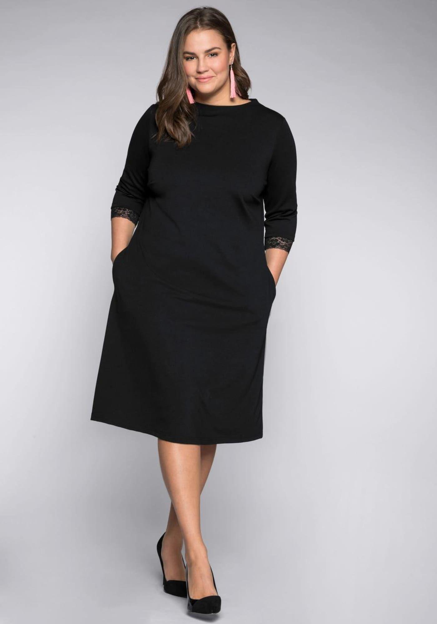 sheego style Kleid in schwarz  Etuikleid, Sheego style und Kleid
