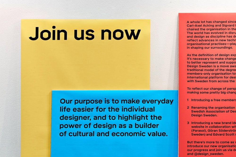 Establishing A New Identity For The Organisation Design Sweden Founded In 1957 A Custom Typeface Family Was Designed To Create A Unique Voice For The Organi Con Imagenes