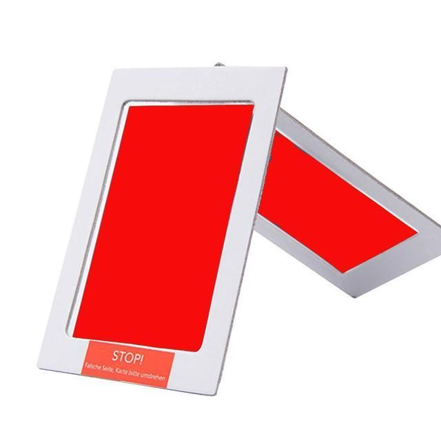 Baby Hand and Footprint Photo Frame Kit - Red
