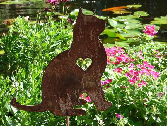 Charmant Superior Pet Cat Memorial GARDEN STAKE Yard Lawn Kitty Feline By Artbyjack,  $24.99