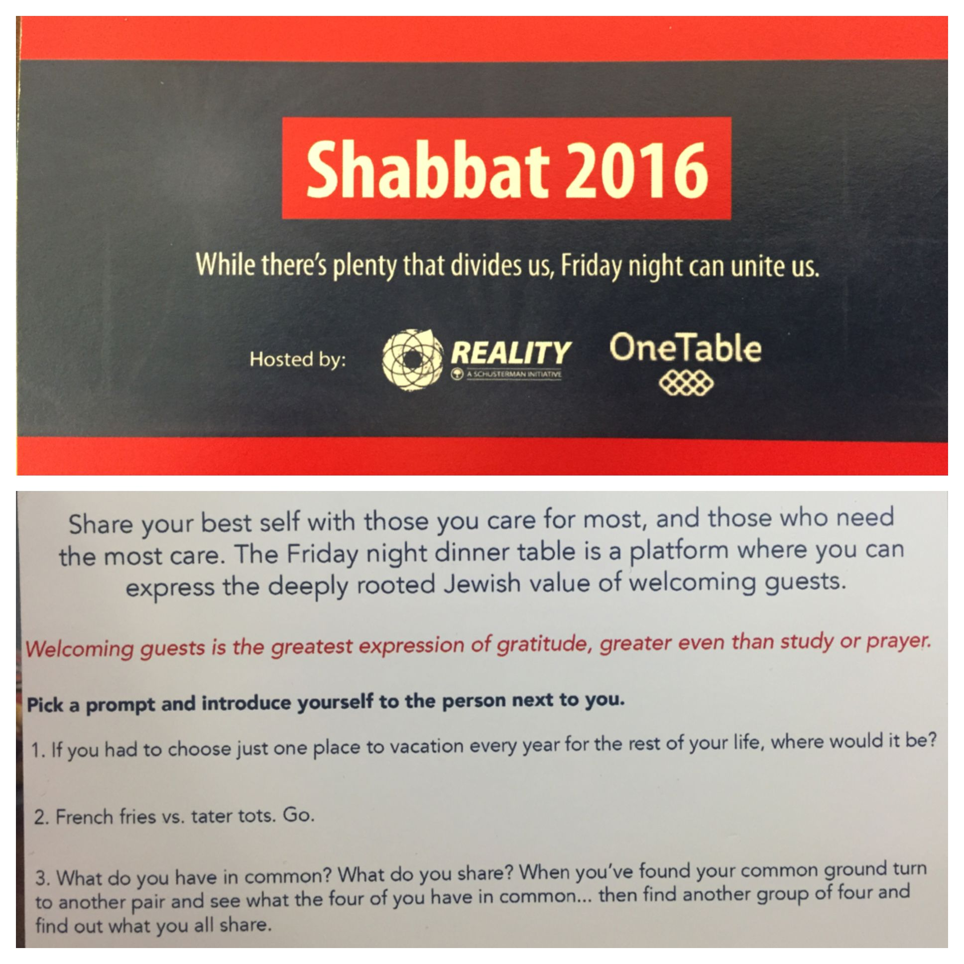 Pick A Prompt Tablemaker Shabbat With Onetable Iowa
