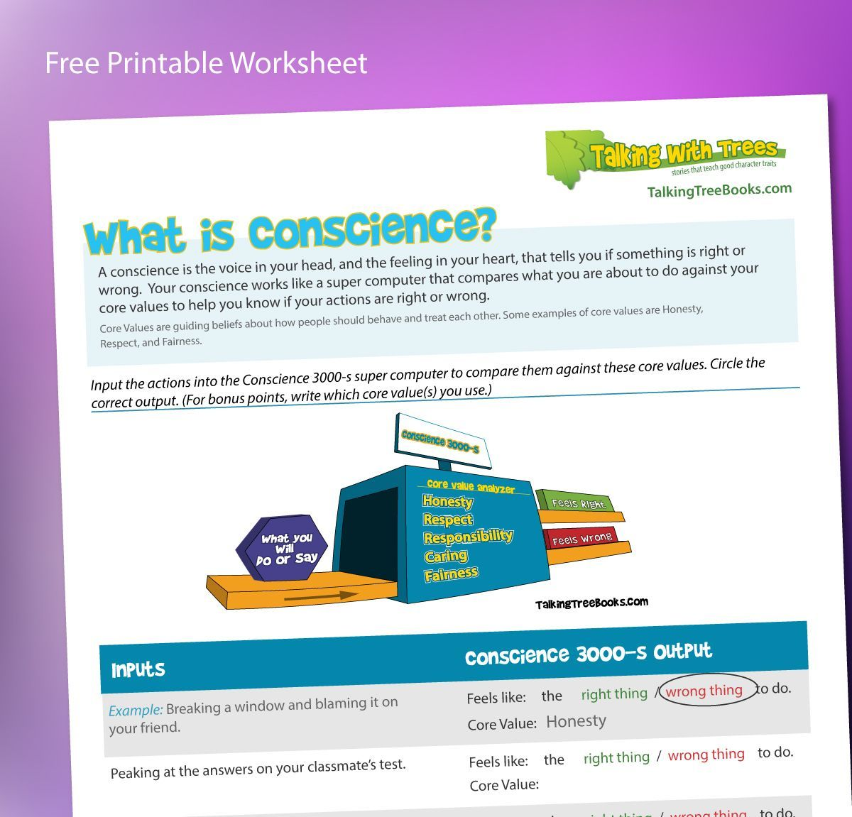 What Is Conscience Worksheet Free Printable What Is