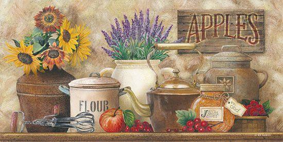 Antique Kitchen By Artist Carrie Knoff Art Printskitchen Wall Artcountry