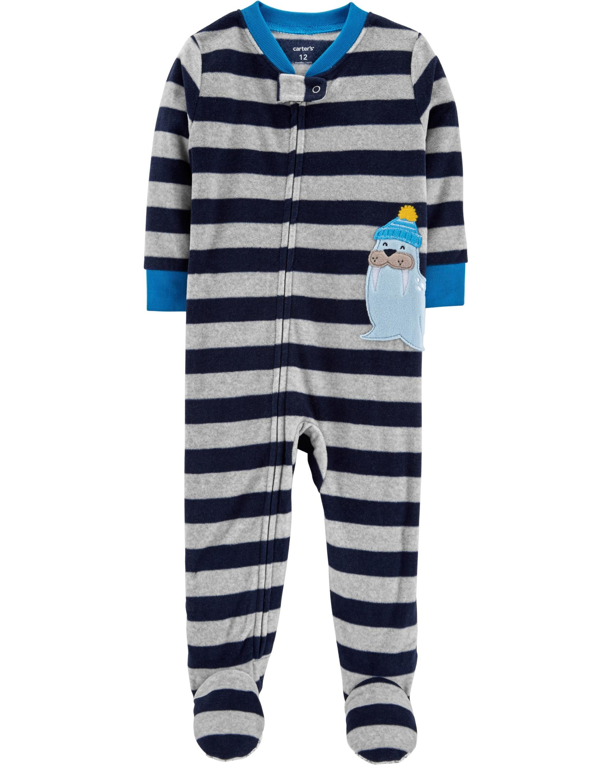 4b5b3cfe2 1-Piece Walrus Fleece PJs