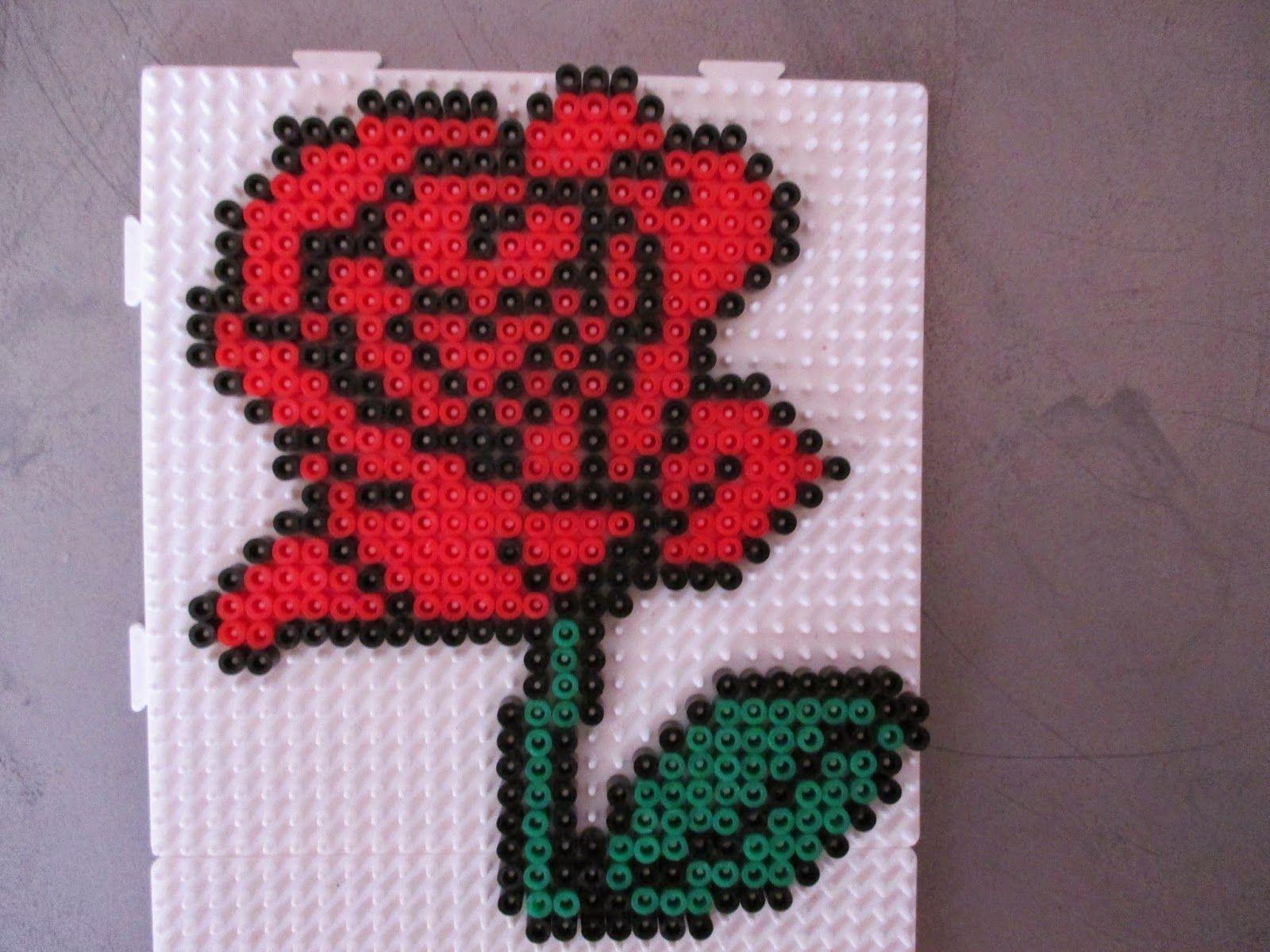 Un mod le de fleur en perle repasser inspiring ideas pinterest mod le de fleur repasser - Model perle a repasser ...