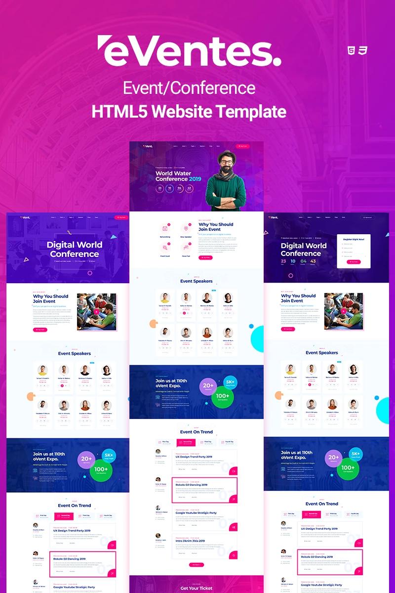 Eventes Event Conference Html5 Website Template Website Template Event Website Wordpress Template Design
