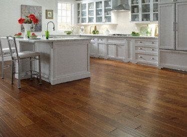 astounding white kitchen cabinets wood floors | Isn't this Virginia Mill Works Richmond Plank amazing with ...