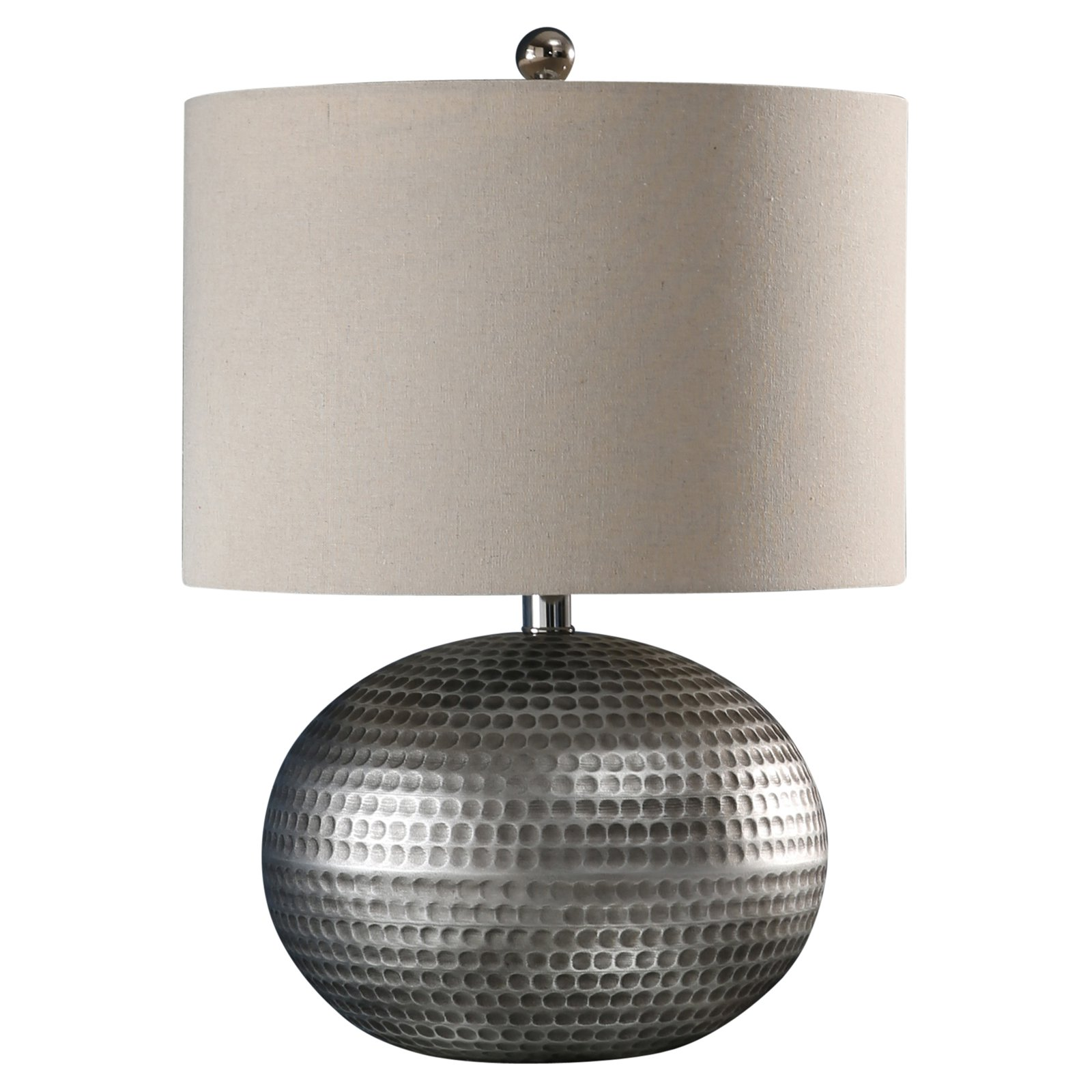 Abbyson Darcie Hammered Table Lamp Table Lamp Hammered Silver Bulb