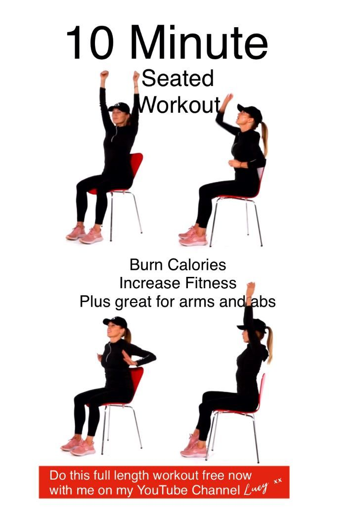 This seated cardio workout will help increase your fitness and is amazing for your arms and abs. Thi...