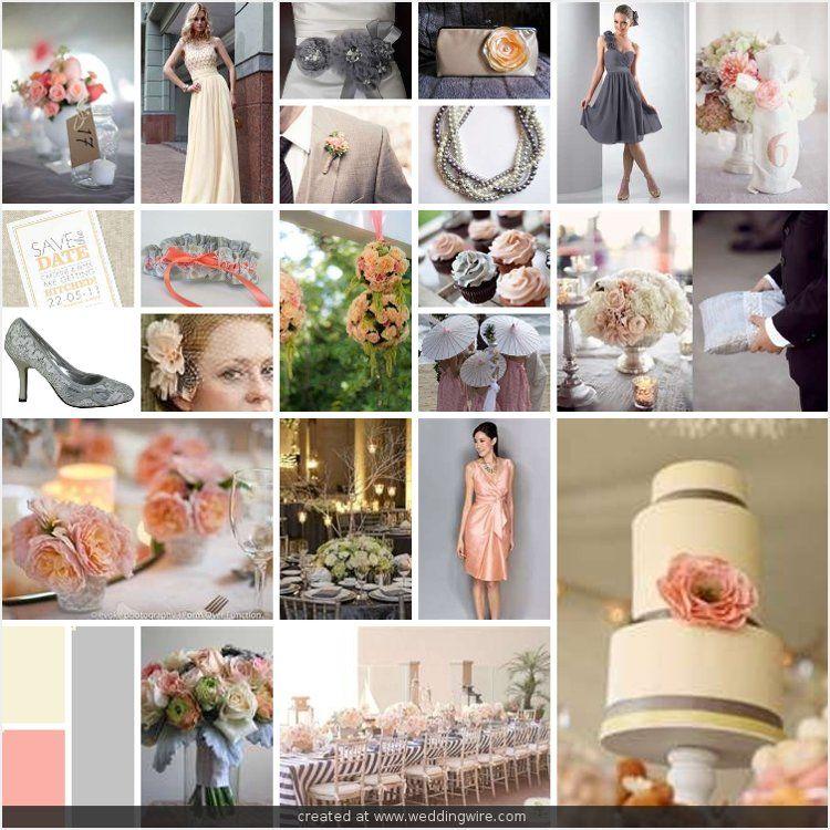 Wedding Inspirations Grey Peach And Cream Spring