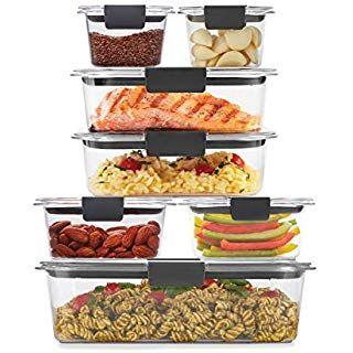 Amazon.com: Rubbermaid Brilliance Food Storage Container, Large, 9.6 Cup, Clear, 3 Pack: Kitchen ...
