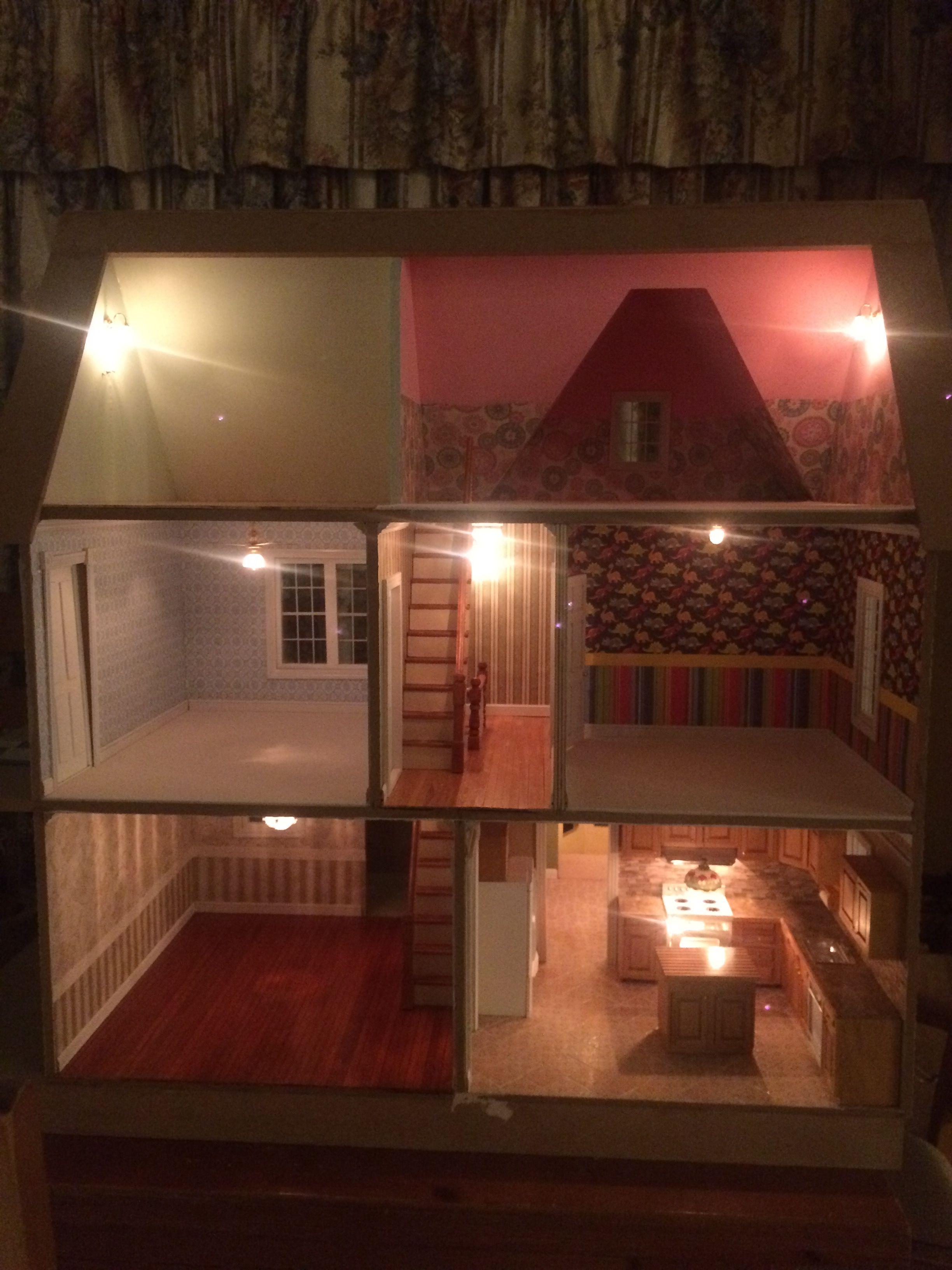 Lights My Victoria S Farmhouse Dollhouse Build And