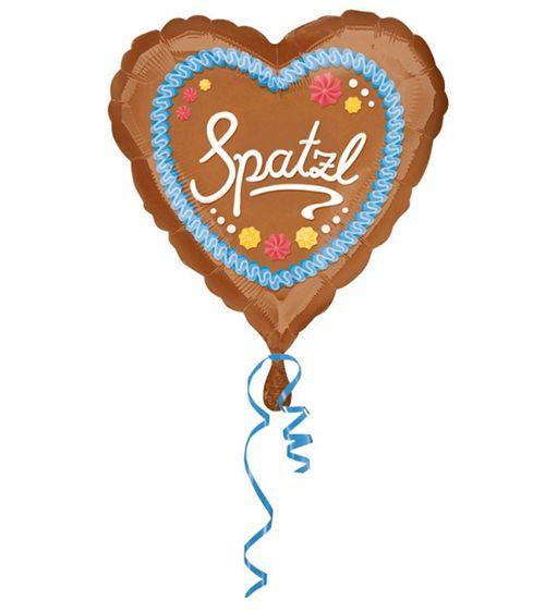 """Herz-Folienballon """"Lebkuchenherz"""" - 43 cm   Folien-Ballons   Luftballons…"""