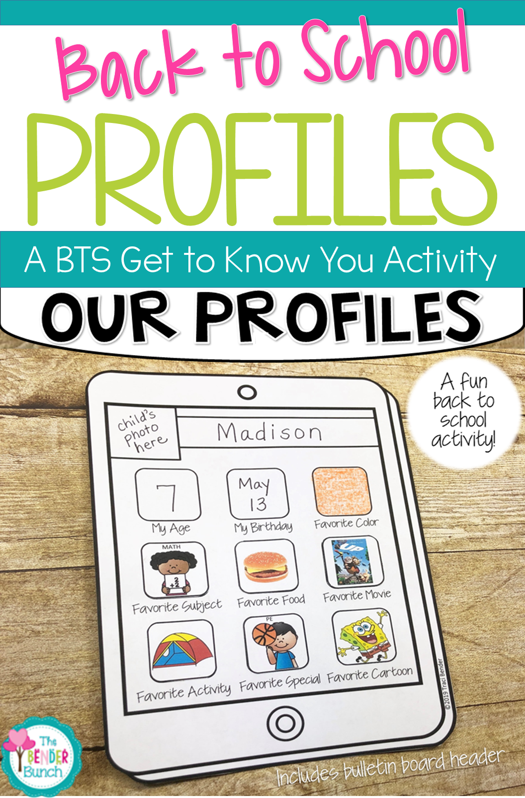 Our Profiles A Get To Know You Back To School Bulletin