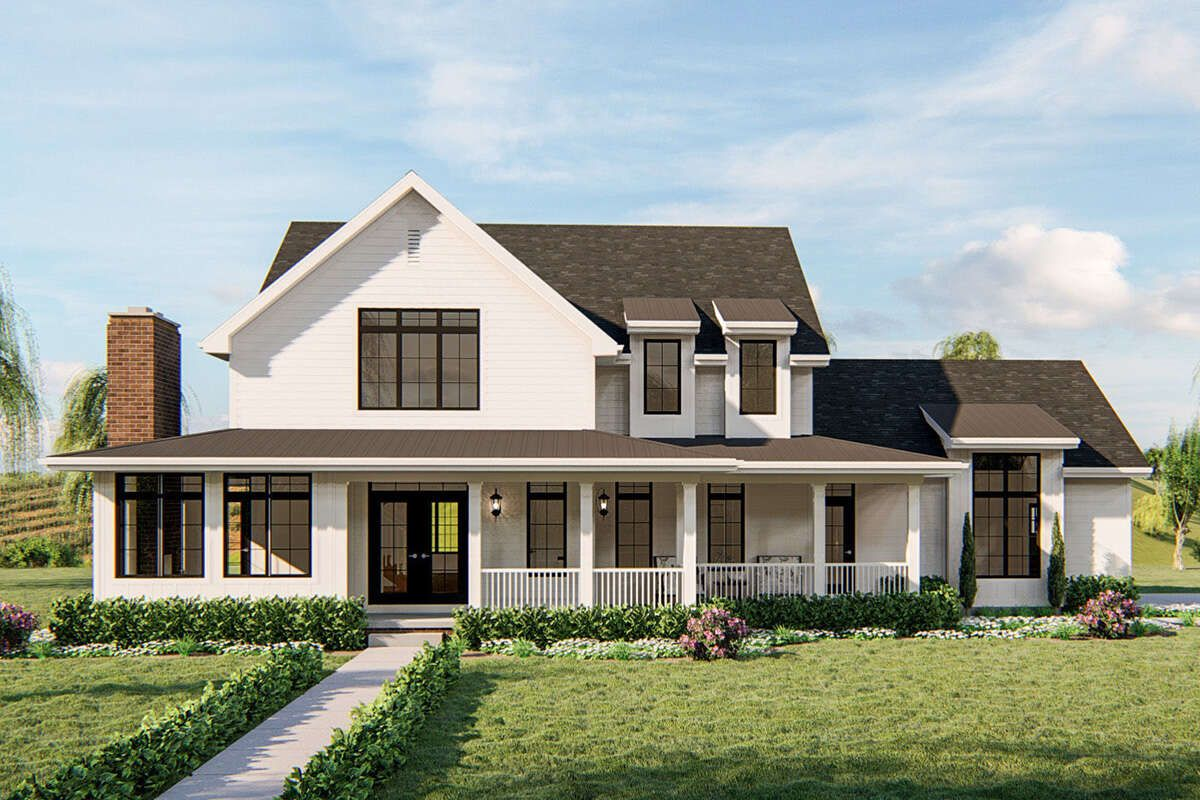 House Plan 963 00390 Modern Farmhouse Plan 2 784 Square Feet 4 Bedrooms 3 5 Bathrooms Modern Farmhouse Plans House Plans Farmhouse Craftsman House Plans