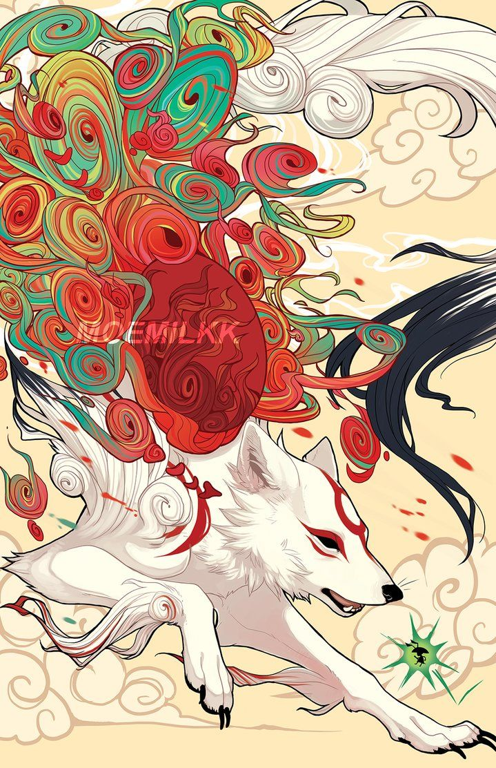 Look Another Okami Fanart By Captainpeppicola Okami Amaterasu