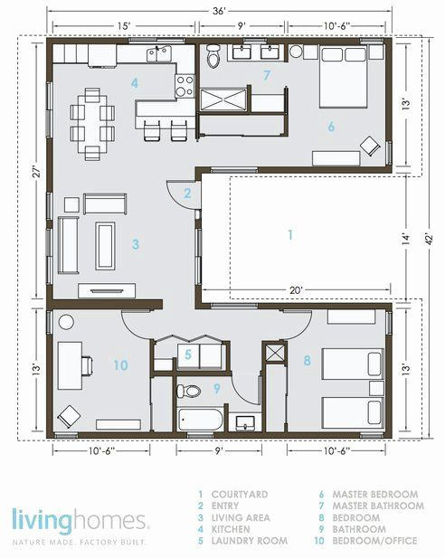 Small Hacienda House Plans Unique Livinghomes And Make It Right Introduce Affordable Green In 2020 Container House Plans Floor Plan Design Building A Container Home