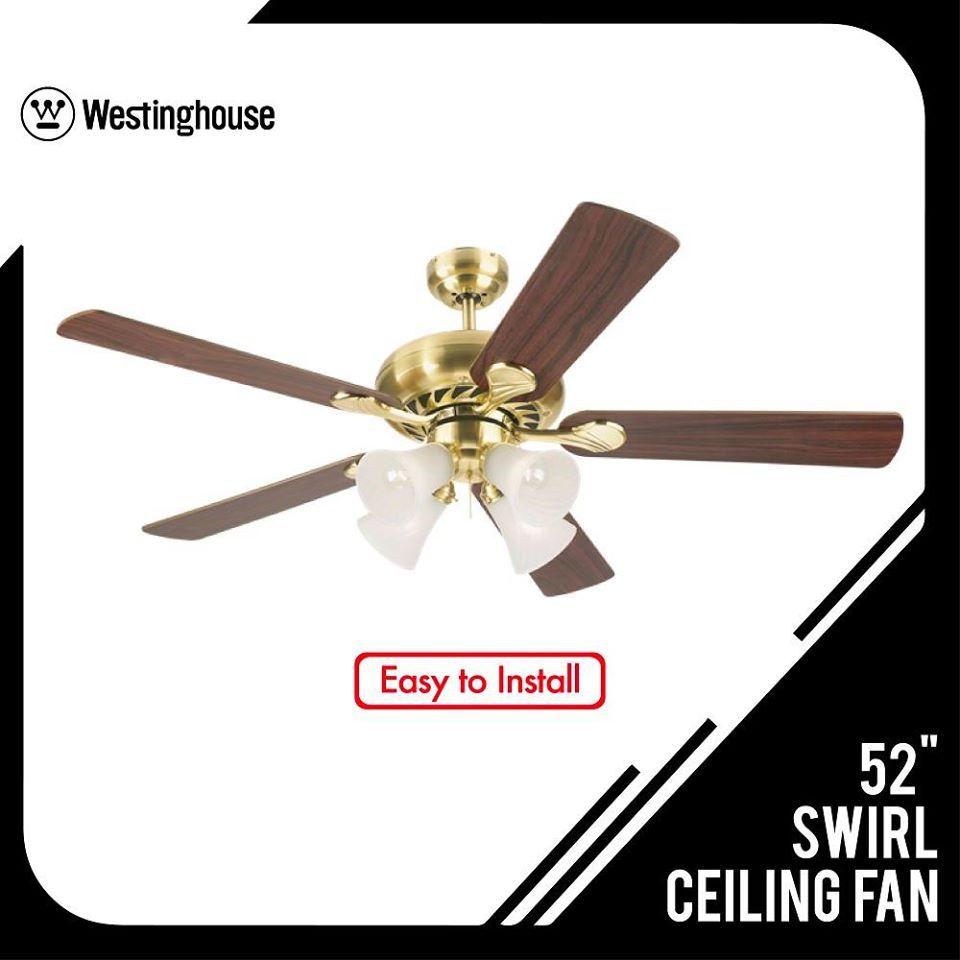 Westinghouse 52 Swirl Ceiling Fan Cbkhardware Hardwareph Ceilingfan In 2020 Ceiling Fan Ceiling Westinghouse