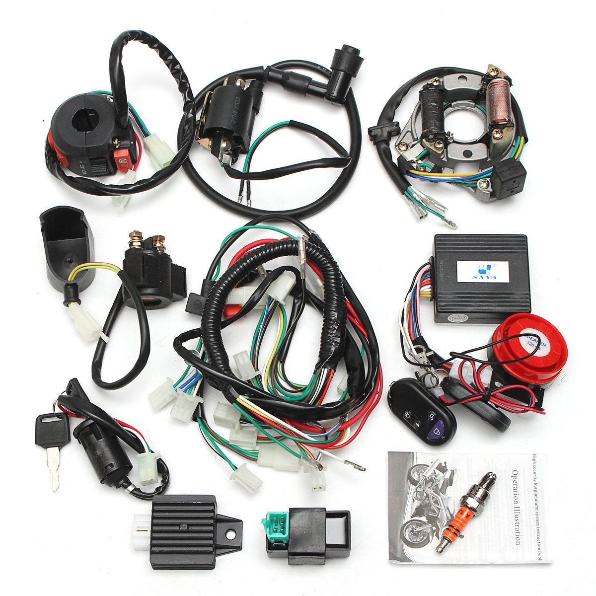 small resolution of alarm system cdi wiring harness remote start switch high security for electric