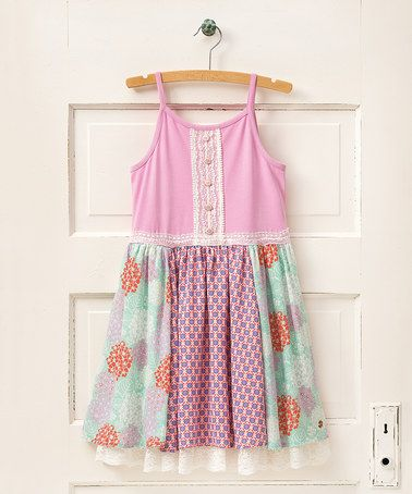 Loving this Pink Beach Day A-Line Dress - Girls on #zulily! #zulilyfinds