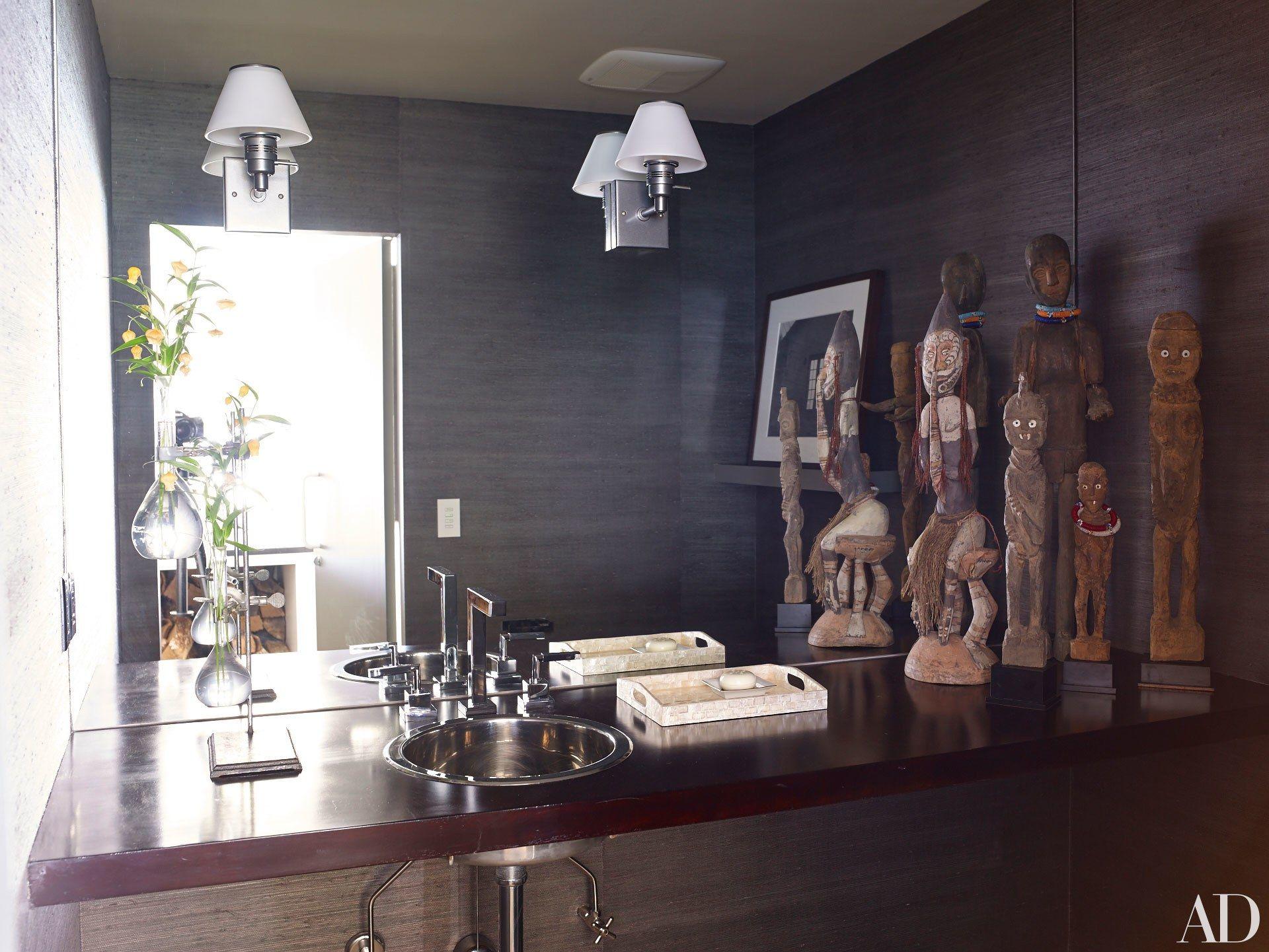 vicente bathroom lighting vicente wolf. We Go Inside Vicente Wolf And Matthew Yee\u0027s Montauk, New York, Getaway Photos | Bathroom Lighting