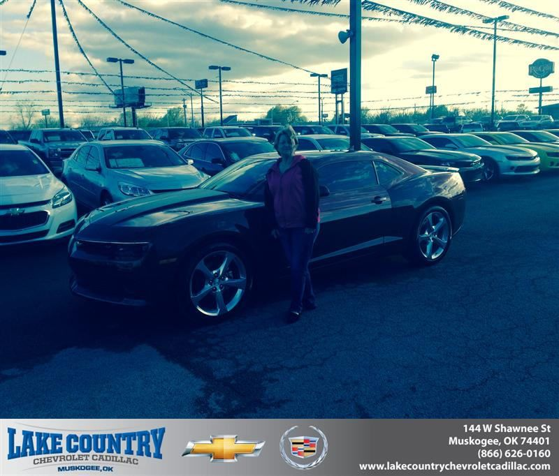 Congratulations to Debbie Yandell on your #Chevrolet #Camaro purchase from Braden  Michals at Lake Country Chevrolet Cadillac! #NewCar