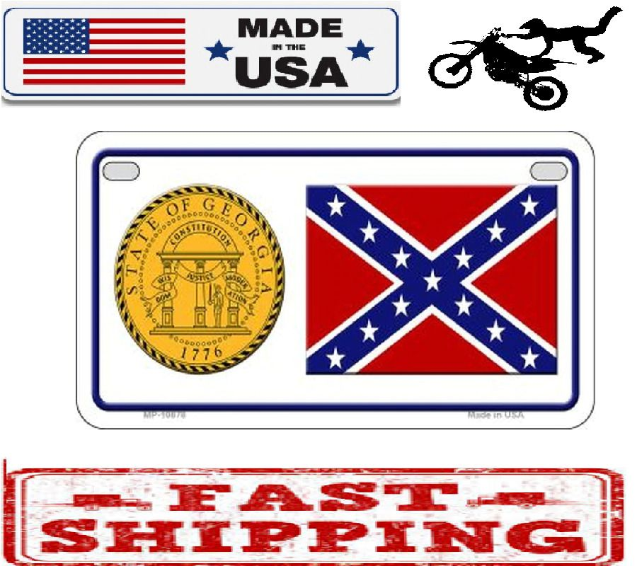 Confederate Georgia Metal Aluminium Novelty Motorcycle License Plate Frame Sign Ebay In 2020 Motorcycle License License Plate Frames Motorcycle License Plate Frame