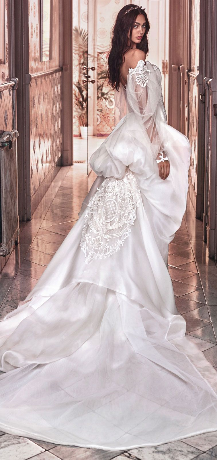Off the shoulder sweetheart neckline Victorian mermaid wedding gown #wedding #weddingdress #weddinggowns