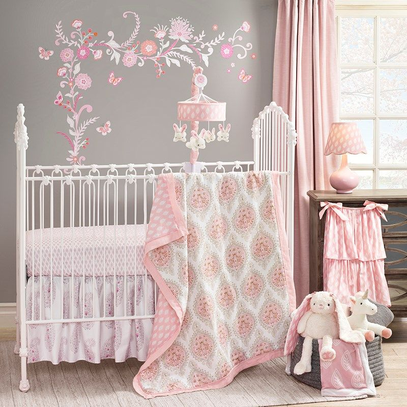 4pc Crib Bedding Set - Charlotte 310623189