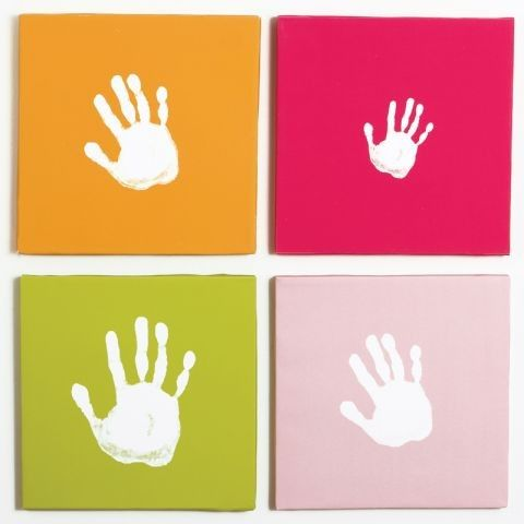 Pearhead Handprint Wall Art Set in Pink allows you to create your ...