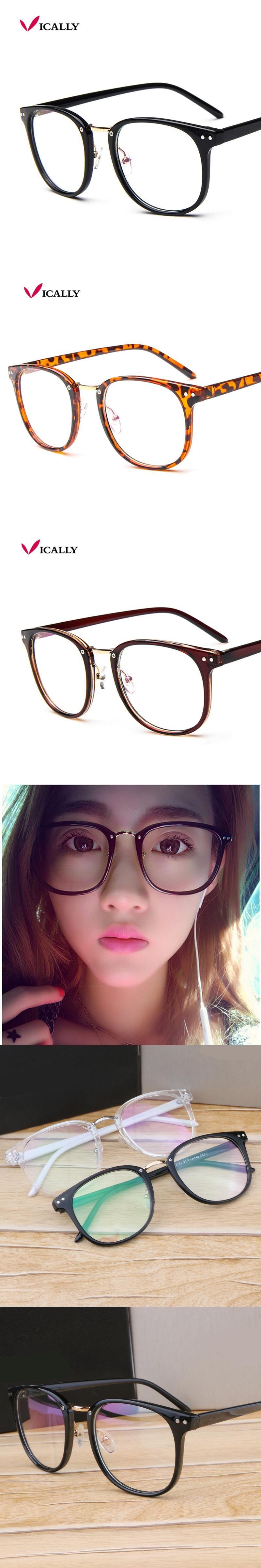 714da137d44 Metal Leg Vintage Eyeglasses Frame Newest Oversize Glasses Frames Women Men  Fake Plain Glasses Fashion Eyewear