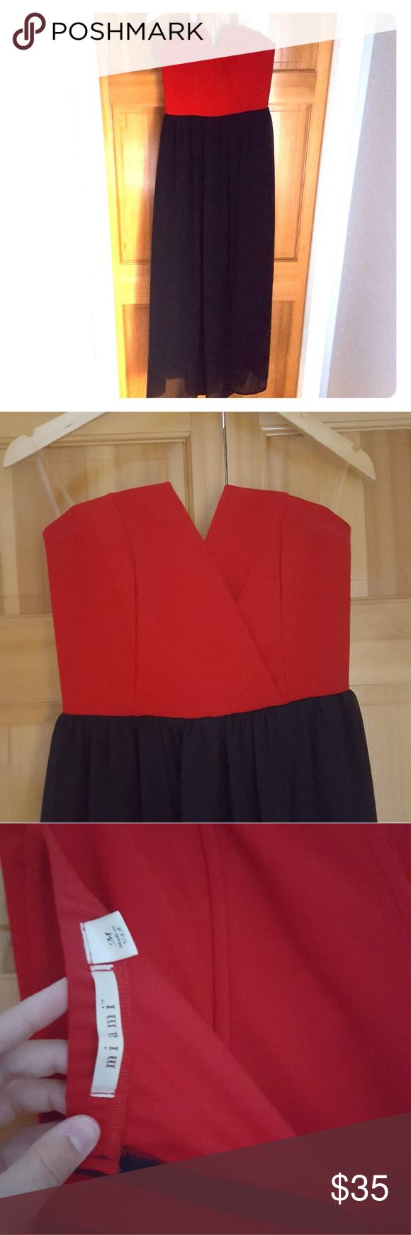 Red and black wedding dress  Long Red u Black Overlay Miami Dress  Red black Wedding night and