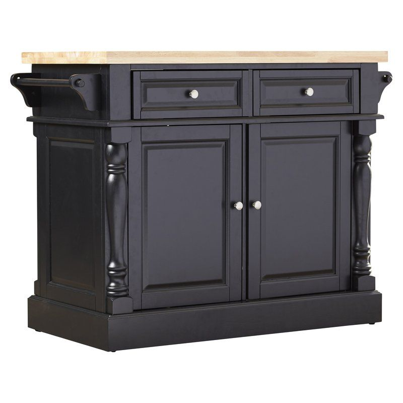 Darby Home Co Chalfant Kitchen Island with Butcher Block
