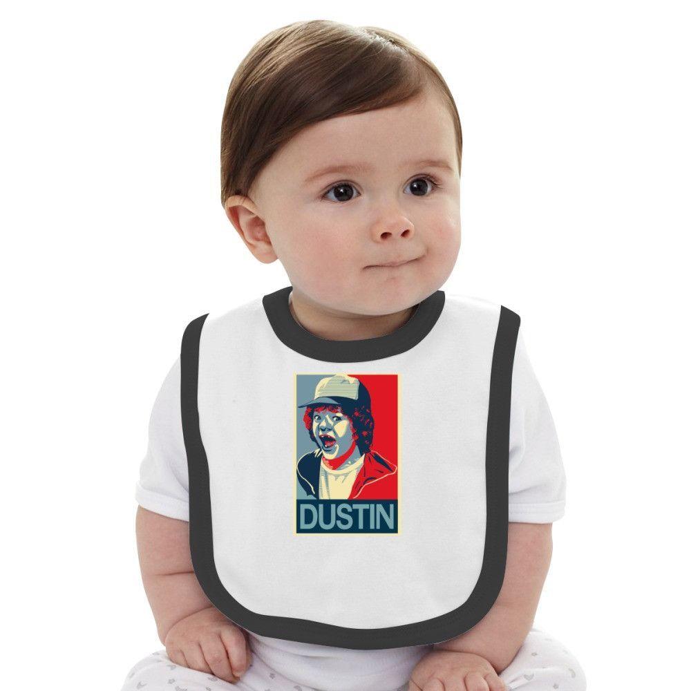 Stranger Things Dustin Baby Bib