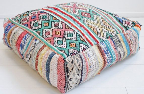 Moroccan Kilim Pouf Berber 15 By Elramlahamra On Etsy Moroccan